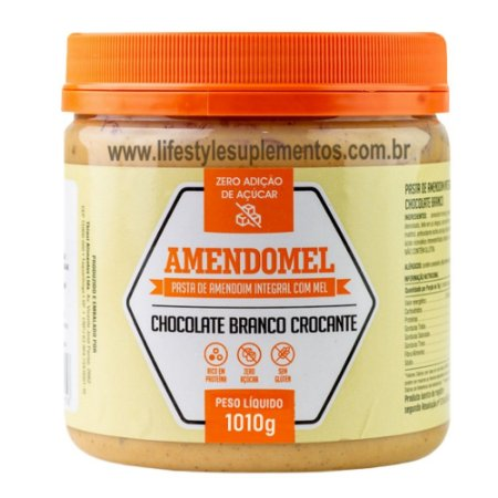 AmendoMel Chocolate Branco Crocante 1010g - Thiani Alimentos