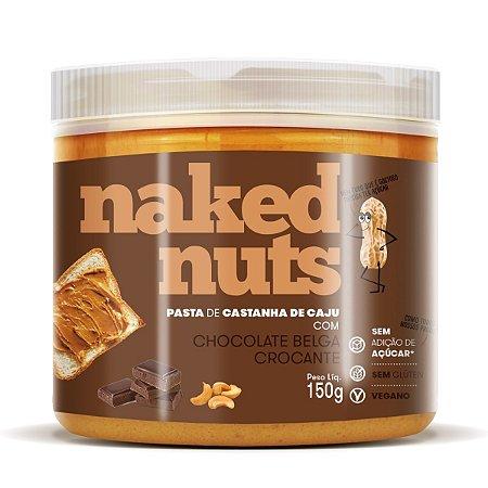 Pasta de Castanha de Caju Chocolate Belga Crocante 150g - Naked Nuts