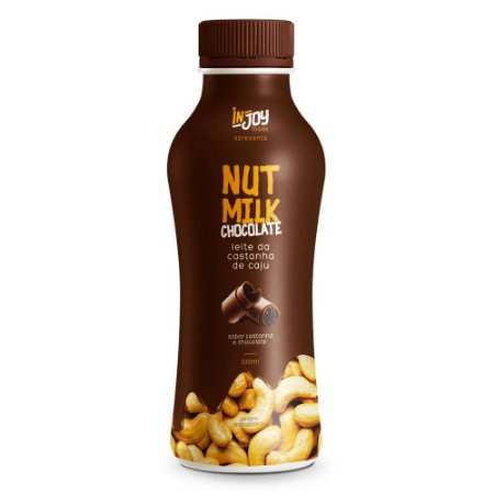 Nut Milk 330ML - Leite Vegetal Castanha de Caju Com Chocolate - InJoy