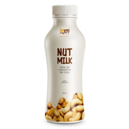 Leite Vegetal Castanha de Caju Neutro 330ML - Nut Milk - InJoy