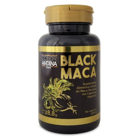 Black Maca Peruana 60 Cápsulas - Color Andina Food