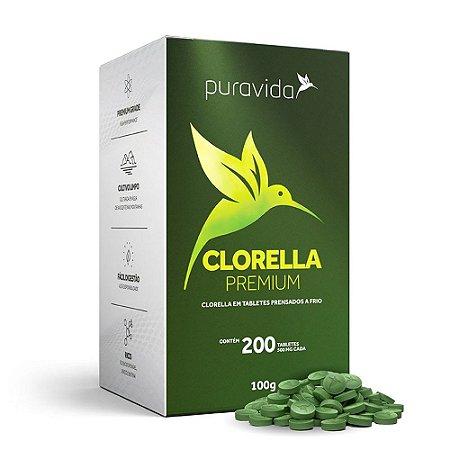 Clorella Premium 200 Tabletes - Pura Vida