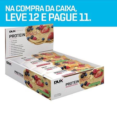 Protein Snack Chocolate Branco e Frutas Vermelhas 12 Unidades - Dux Nutrition