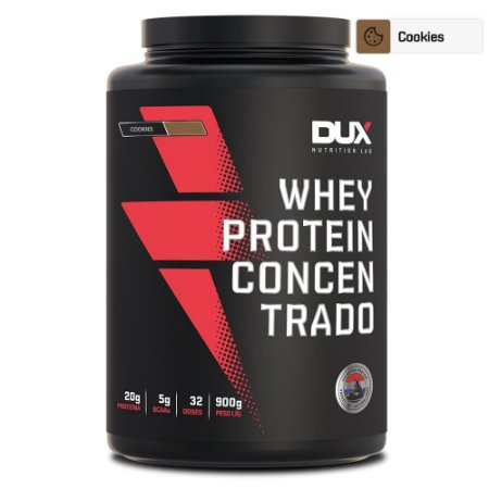 Whey Protein Concentrado Cookies 900g - Dux Nutrition