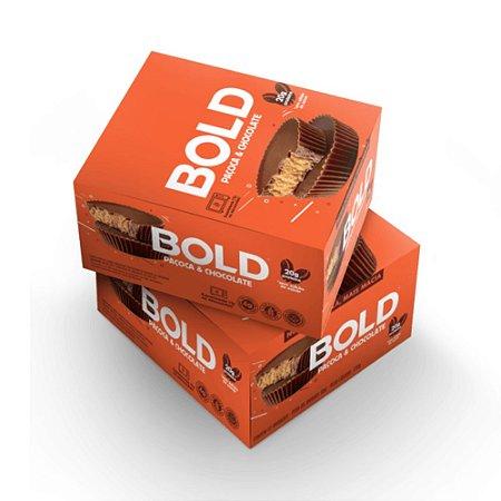 Bold Bar Paçoca & Chocolate 12 Unidades - Bold Snacks