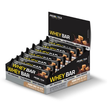 Whey Bar Doce de Leite 12 Unidades - Probiotica