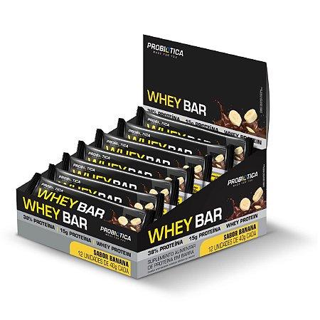 Whey Bar Banana 12 Unidades - Probiotica