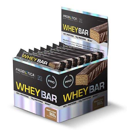 Whey Bar Cookies & Cream 24 Unidades - Probiotica