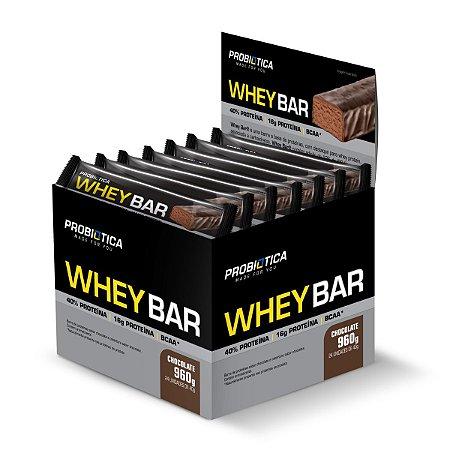 Whey Bar Chocolate 24 Unidades - Probiotica