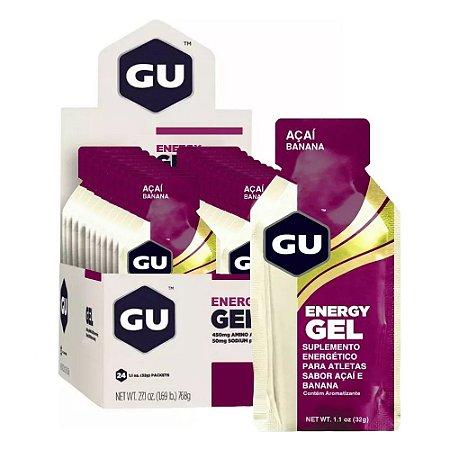 GU Energy Gel Açaí Com Banana Caixa 24 Sachês - GU