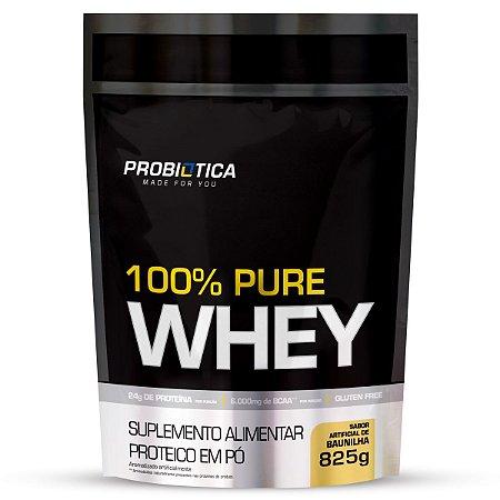 100% Pure Whey Refil 825g Baunilha - Probiotica
