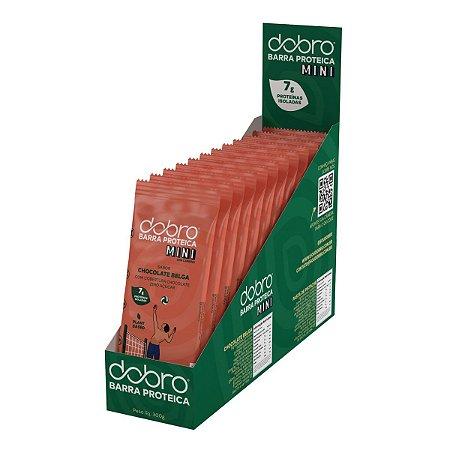 Barra de Proteína Mini Chocolate Belga 12 Unidades - Dobro
