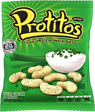 Protitos Snack Protein Sabor Creme de Cebola 31g - Syntrax