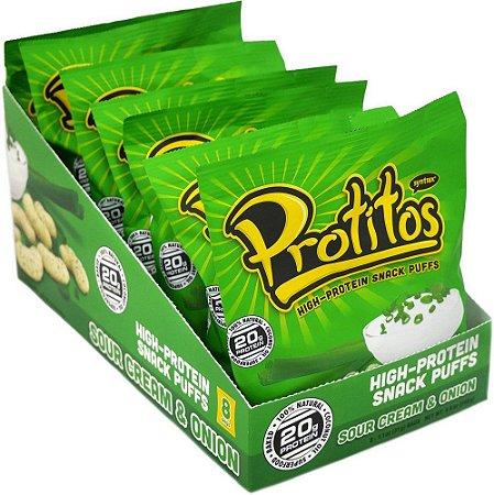 Protitos Snack Protein Creme de Cebola 8 Unidades - Syntrax