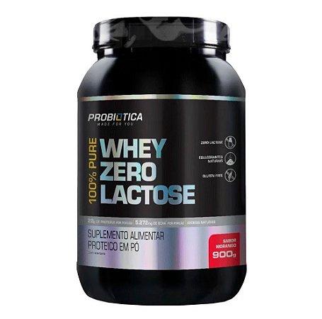 100% Pure Whey Zero Lactose Morango 900g - Probiótica