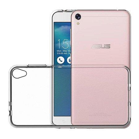 Capa de silicone transparente para Zenfone Live ZB501 tela de 5.0 polegadas