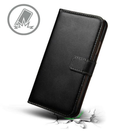 Capa carteira cor preta para Moto G5-S PLUS