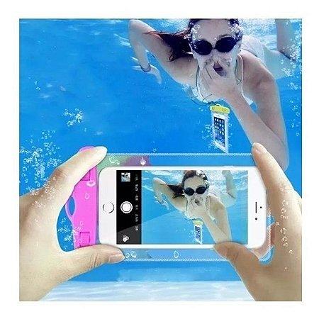 Capa para celular impermeável para celular até 6.3 polegadas - Rosa