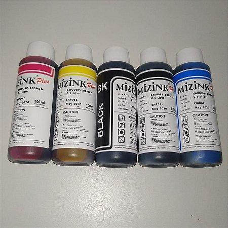 Refil tanque de tinta corante para impressoras Epson Kit com 5 tubos - Validade curta