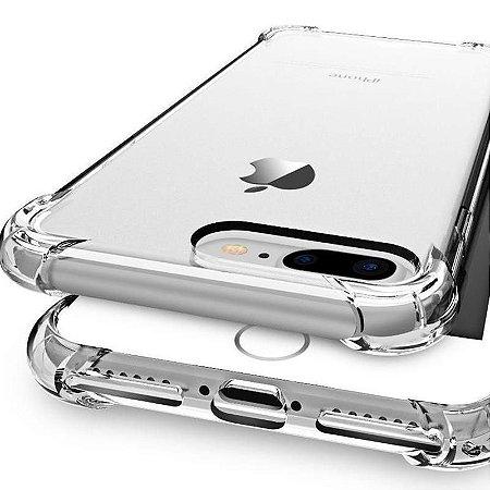 Capa (Capinha) em silicone transparente para iPhone 7 Plus AntiShock