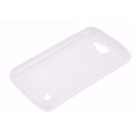 Capa (Capinha) em silicone transparente para LG K4 Antigo Tela 4.5