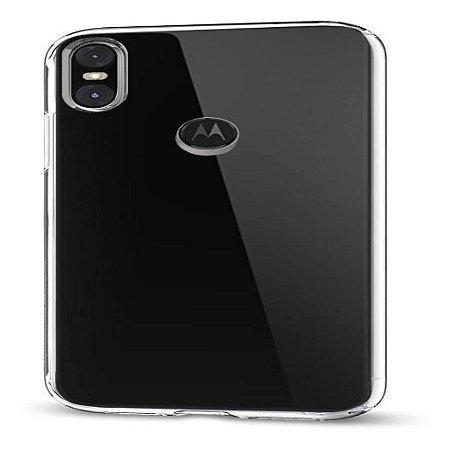 Capa (Capinha) em silicone transparente para Moto One Normal