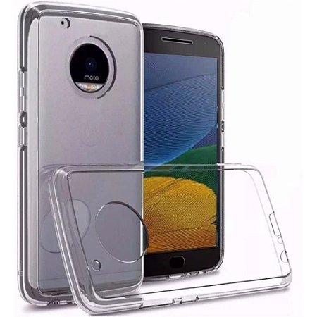 Capa (Capinha) em silicone transparente para Moto E4 NORMAL