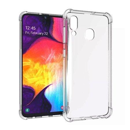 Capa (Capinha) em silicone transparente para Samsung A20S A20-S
