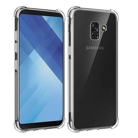 Capa transparente de silicone para Samsung A8+ A8 PLUS Antichoque