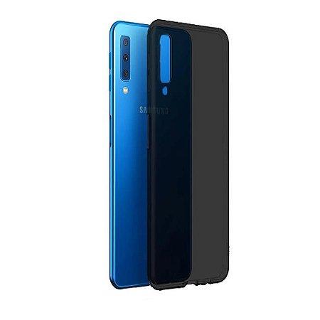 Capa na cor fumê de silicone para Samsung A30S