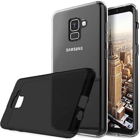 Capa na cor fumê de silicone para Samsung A8+ A8 PLUS
