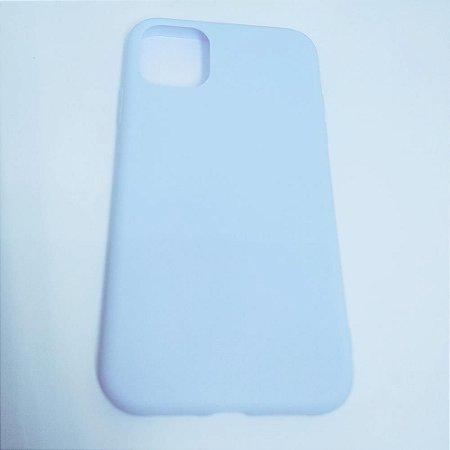 Capinha flexível colorida para iPhone 11 - Azul Claro