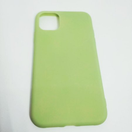 Capinha flexível colorida para iPhone 11 - Abacate