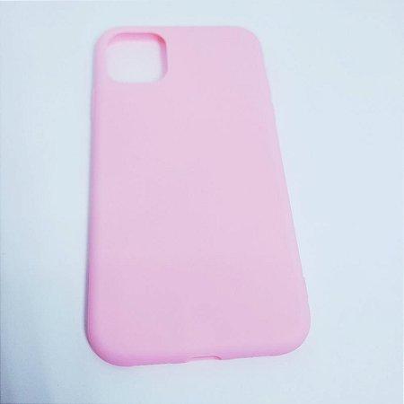 Capinha flexível colorida para iPhone 11 - Rosa