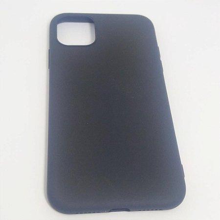 Capinha flexível colorida para iPhone 11 - Preto