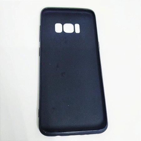 Capinha flexível colorida para Samsung S8 Plus - Preto