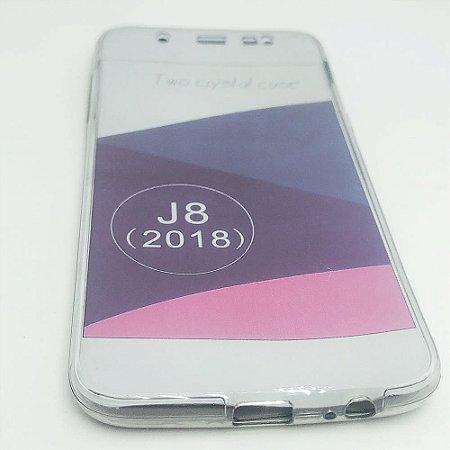 Capinha 360º Frente + Verso para Samsung J8 Normal - Fumê Claro