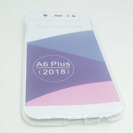 Capinha 360º Frente + Verso para Samsung A6 PLUS - Transparente