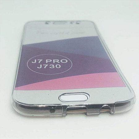Capinha 360º Frente + Verso para Samsung J7 PRO - Fumê Claro