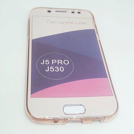 Capinha 360º Frente + Verso para Samsung J5 PRO - Avermelhado