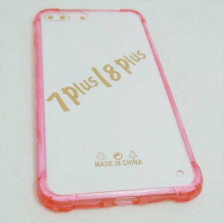 Capinha Acrílica com borda para iPhone 7 / 8 PLUS (5.5) - Rosa