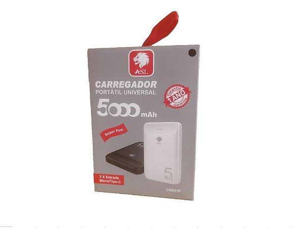 Carregador Power Bank Externo 5000mAh CN501P Branco