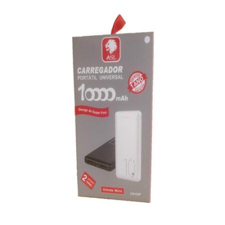 Carregador Power Bank Externo 10.000mAh CN102P Preto