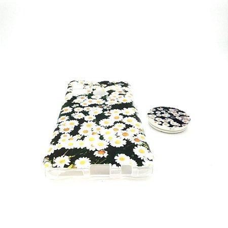 Capa para celular do Samsung A20 / A30 - Modelo Floral K