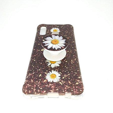 Capa para celular do Samsung A20 / A30 - Modelo Floral H