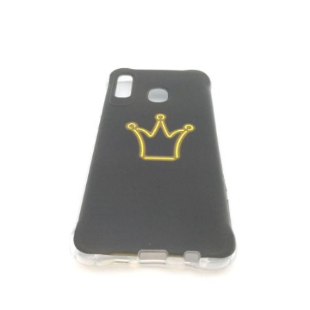 Capa para celular do Samsung A20 / A30 - Coroa Amarela