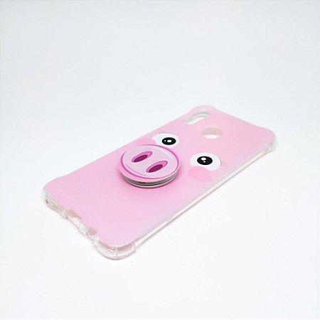 Capa para celular do Samsung A20 / A30 - Porco Rosa
