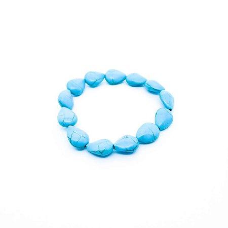 Pulseira feminina - Pedrinhas Azuis (Gotas)