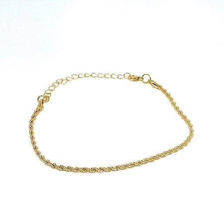 Pulseira feminina dourada - Trançadinho dourado
