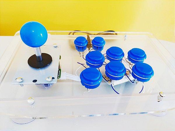 Controle Arcade de Acrílico (PC / PS3 / Raspberry)
